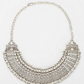 Urban Outfitters - Etched Metal Bib Necklace