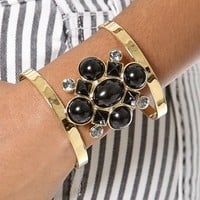 Juicy Couture Cabochon Cluster Open Cuff | SHOPBOP