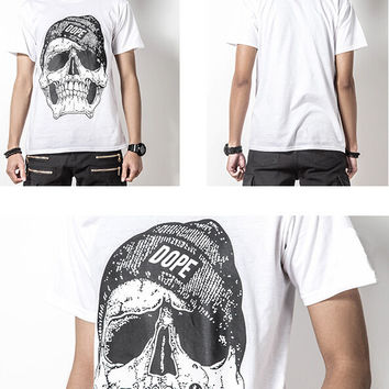 Fashion Skull T-Shirt High Quality Short Sleeve