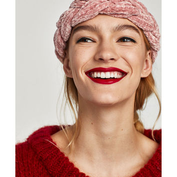 BRAIDED CHENILLE HEADBAND - View all-ACCESSORIES-WOMAN | ZARA United States