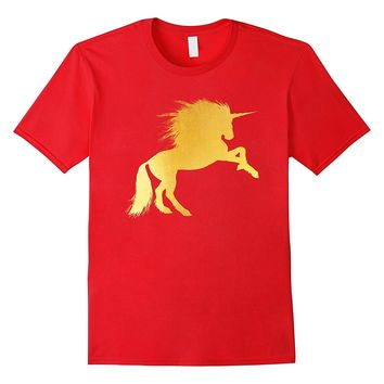 Bling Unicorn Gold Gift T-Shirt Funny Party Gift