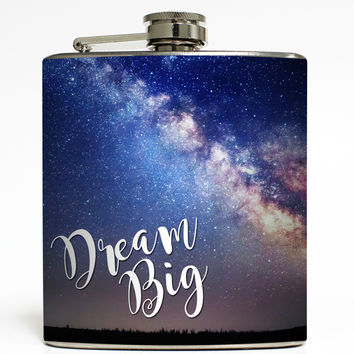 Dream Big - Milky Way Galaxy Flask