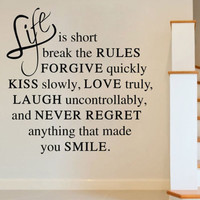 Life Is Short Love Quote Wall Sticker Art Vinyl Decal Home Room Decor Removable = 1705966788