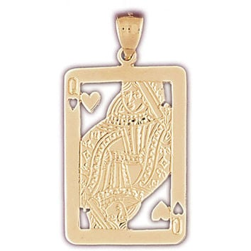 14K GOLD GAMBLING CHARM - PLAYING CARD #5464