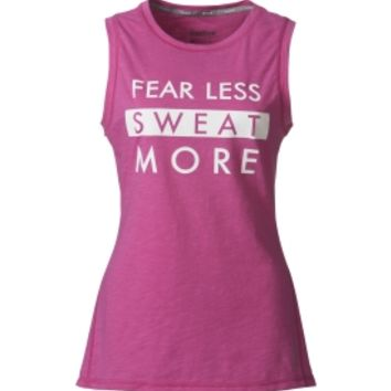 Reebok Women's Fear Less Sweat More Graphic Muscle Tank Top | DICK'S Sporting Goods