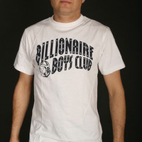 Billionaire Boys Club Short Sleeve Men's T-Shirt With Classic Arch Logo in WHITE/NAVY (B0012T209-WHT/NVY)