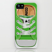 Cute converse all star green baby shoes apple iPhone 4 4s, 5 5s 5c, iPod & samsung galaxy s4 case by Three Second