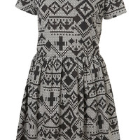 Fairisle Print Flippy Dress - Sale - Sale & Offers - Topshop USA