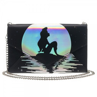 Disney Ariel Iridescent Envelope Wallet with Chain