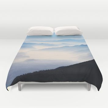 Inhale Duvet Cover by Mixed Imagery