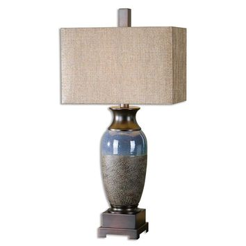 Antonito Textured Ceramic Table Lamp By Uttermost
