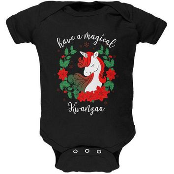 PEAPGQ9 Have a Magical Kwanzaa Unicorn Soft Baby One Piece