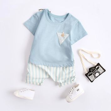 Baby Boy Clothes 24 Months Infant Sets 1ST Birthday Clothing Recien Necido Newborn Formal Baby Boy Shirt Tracksuit 70E014