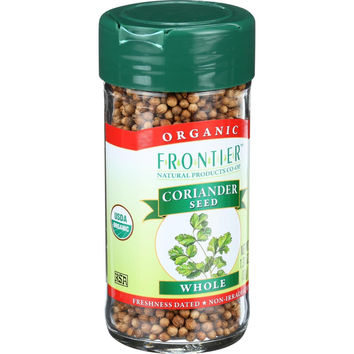 Frontier Herb Coriander Seed - Organic - Whole - 1.31 oz