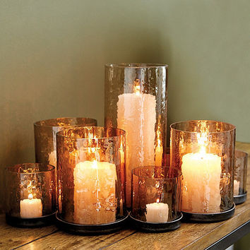 Lustered Glass Candleholder