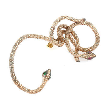 Double Snake Ear Cuff ////// FREE SHIPPING /////