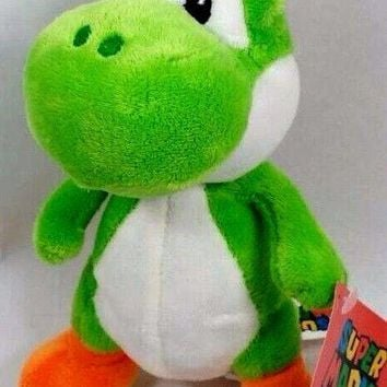 "Licensed Nintendo Official Super Mario Yoshi Plush, 12""  Large"