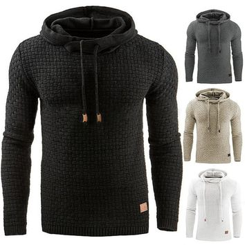 2018 Men's Hoodie Warm Hooded Sweatshirt Coat Jacket Outwear Sweater