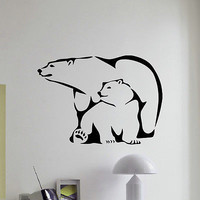 WALL DECAL VINYL STICKER PREDATOR ANIMAL POLAR BEAR WILD DECOR SB856