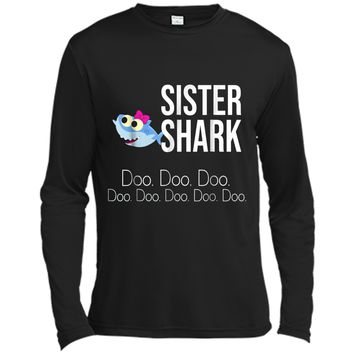 """Sister Shark"" Baby Mommy Daddy Matching Family  Long Sleeve Moisture Absorbing Shirt"