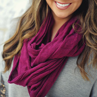 Precious In Plum Infinity Scarf | Hope's