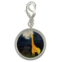Giraffe and Moon | Custom Charm / Charm Bracelet