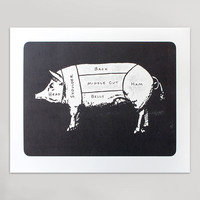 Pork Cuts Print (Large)