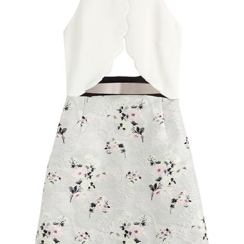 Giambattista Valli - Jacquard Dress with Cut-Outs