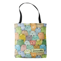 Personilized Super Cute Cat Tote Bag