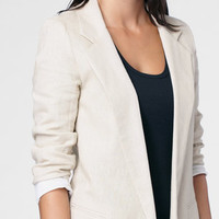 Stone Linen Boyfriend Blazer | Shop Necessary Objects Blazers | fredflare.com