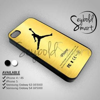 Jordan Gold Logo - iPhone 4/4s/5 Case - Samsung Galaxy S3/S4 Case - Black or White