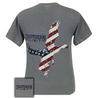 Southern Limits Lock Em Up American Flag USA Comfort Colors Unisex T-Shirt