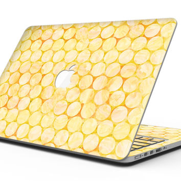 Yellow Sorted Large Watercolor Polka Dots - MacBook Pro with Retina Display Full-Coverage Skin Kit