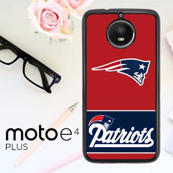 New England Patriots Logo X3220 Motorola Moto E4 Plus Case