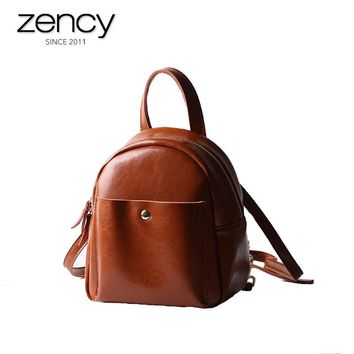 2017 New Arrival Split Leather Fashion Casual Women's Backpacks Girl's Summer Mini School Bag Famale Daily Purses Small Bags