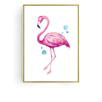 Sophisticated Flamingo 48.4'' Mural Painting