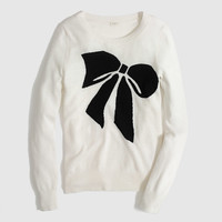 Factory warmspun intarsia big bow sweater