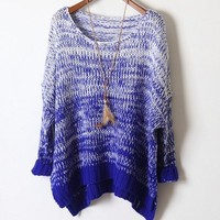 Gradient retro sweater loose bat BABBC from Eternal