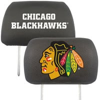 Chicago Blackhawks NHL Polyester Head Rest Cover (2 Pack)