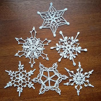 Snowflake, Handmade, christmas decor, party invitations, christmas tree, X-mas holiday New Year Winter Snow gift, Ornaments Accents MyWealth