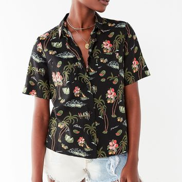 UO Lucky Button-Down Souvenir Shirt | Urban Outfitters