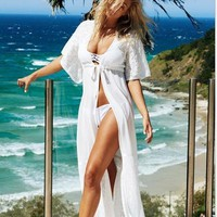 Beach Tunic Sexy Swimwear Cover Up Women Beach Cover Up Blouse Crochet Pareo Swimsuit Coverups Summer Women Beach Wear C0011