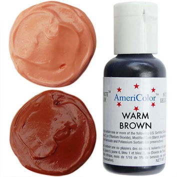 Warm Brown Gel Paste Food Color