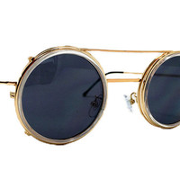 Spitfire - Sonic Gold & Clear Sunglasses, Black Lenses