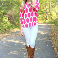 Honey Bee Blouse - Pink
