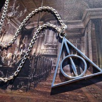 HARRY POTTER Book Inspired DEATHLY HALLOWS NECKLACE Sterling Silver PERFECT GIFT WITH YOUR HP DVD! | IlluminatingDesigns - Jewelry on ArtFire