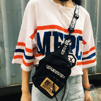 Letters Print Fanny Pack