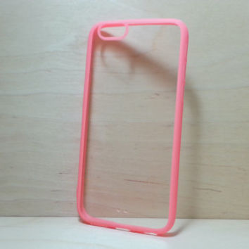 iPhone 6 (4.7 inches) Case Silicone Bumper and Clear Hard Plastic Back - Watermelon