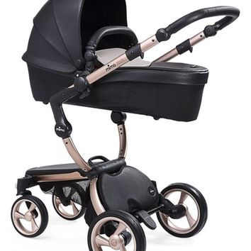 Mima Xari Rose Goldtone Chassis Stroller with Reversible Reclining Seat & Carrycot   Nordstrom