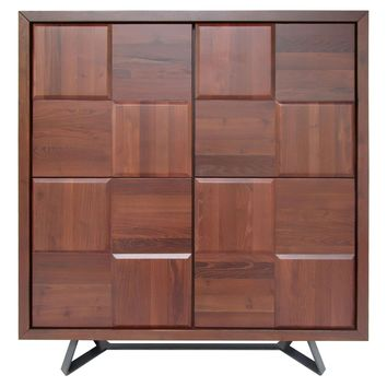 Nuevo Living Sierra Almond Sideboard Cabinet Square